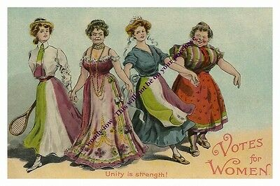 rp13146 - Suffragette Comic , Unity is Strength - photograph 6x4