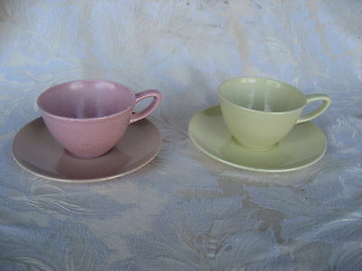 Beautiful Pair of Mid Century Monterey Cup & Saucers Made in California
