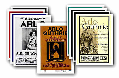 ARLO GUTHRIE  - 10 promotional posters - collectable postcard set # 1
