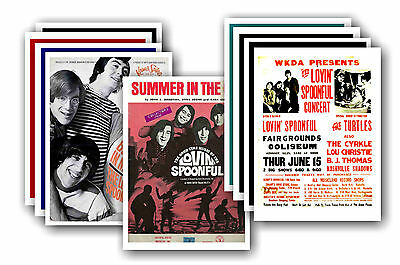 THE LOVIN SPOONFUL  - 10 promotional posters - collectable postcard set # 1
