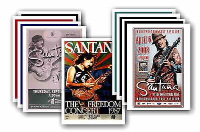 SANTANA  - 10 promotional posters - collectable postcard set # 1