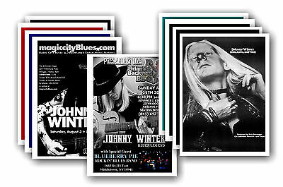 JOHNNY WINTER  - 10 promotional posters - collectable postcard set # 1