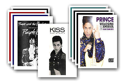 PRINCE  - 10 promotional posters - collectable postcard set # 4