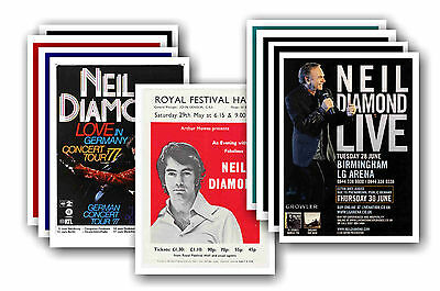 NEIL DIAMOND  - 10 promotional posters - collectable postcard set # 1