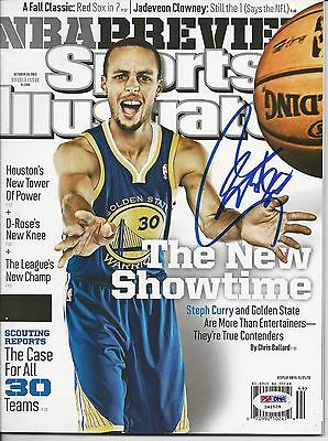 STEPH CURRY (Warriors) Signed SPORTS ILLUSTRATED FULL SIG w/ PSA COA (NO Label)