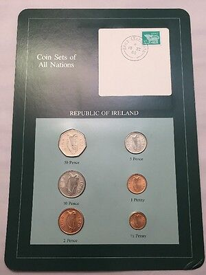 Six Coin Set Uncirculated IRELAND Coins Of All Nations