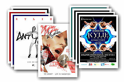 KYLIE MINOGUE  - 10 promotional posters - collectable postcard set # 1