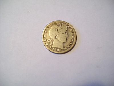 1906 Liberty Quarter--90% Silver-In Good + Condition