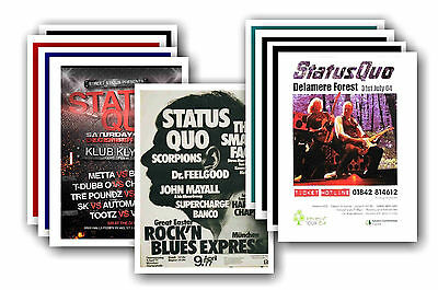 STATUS QUO  - 10 promotional posters - collectable postcard set # 1