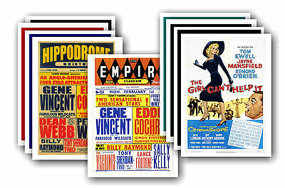 EDDIE COCHRAN  - 10 promotional posters - collectable postcard set # 3