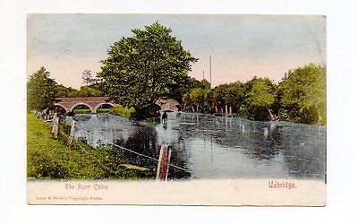Old Postcard River Calne Uxbridge Pm 1904
