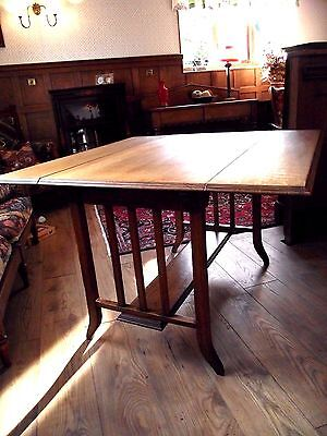 Arts and Crafts Kitchen Table- Antique Drop Leaf Dining Table - Sutherland Table
