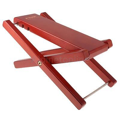 Wooden Guitar Foot Rest Stool Pedal 4-Level Adjustable Height Mahogany