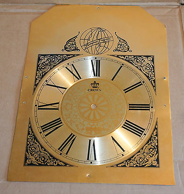 Crown Grandfather Clock Face / Dial Face for Vintage Clock parts repair project