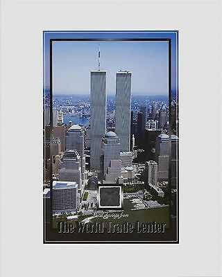 BULK ORDER - 10 X TWIN TOWERS, World Trade Center WTC, METAL/STEEL SHAVINGS 8X10
