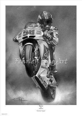 Marco Simoncelli  'Forever'  Open Edition giclee fine art print by Stephen Doig