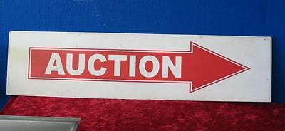 Vintage Double-Sided Metal AUCTION Sign