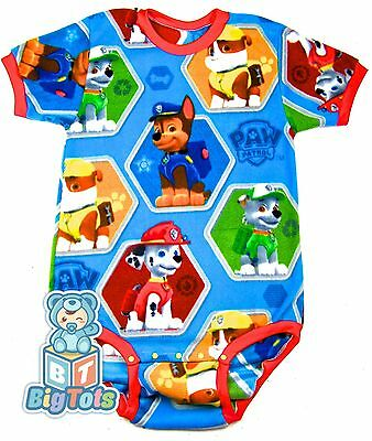 BIG TOTS by MsL *R blue* Paw Patrol adult Fleece bodysuit baby fabric