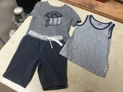 Toddler Baby Gap 2- Tops & Old Navy Cotton Jersey Shorts Size 3T