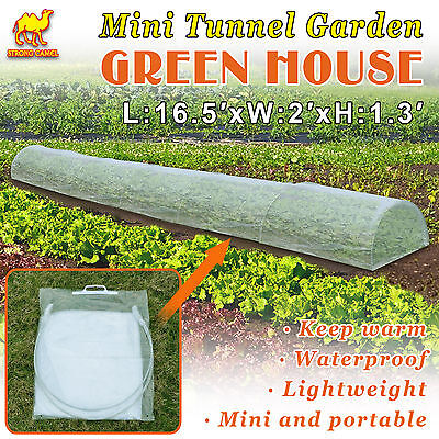New16.5'X2'X1.3' Mini Tunnel Greenhouse Outdoor Plant Gardening Long Green House
