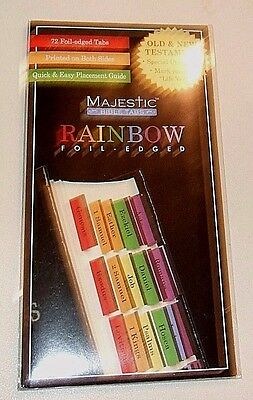 Majestic Rainbow Foil-Edged Bible Indexing Tabs - Old & New Testament - NIP (#7)