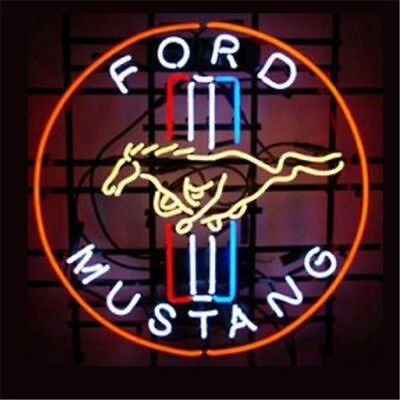 """FORD MUSTANG NEON LIGHT SIGN Display Garage STORE BEER BAR CLUB Signage 17x14"""""""