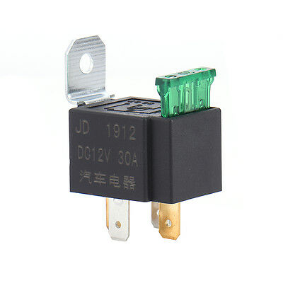 Universal 30A 12V DC SPST Relay Kit Pump Light Horn 4Pin Car Truck Motor