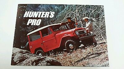 Toyota Land Cruiser Factory postcard Japanese RARE USA ORIGINAL NOS Auto Show 66
