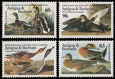 Antigua 1986 - Mi-Nr. 920-923 ** - MNH - Vögel / Birds - Audubon