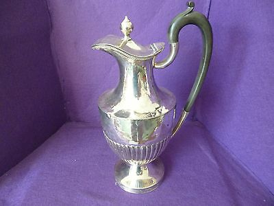 A Fabulous Looking Victorian Silver Plated Half Ribbed Claret Jug