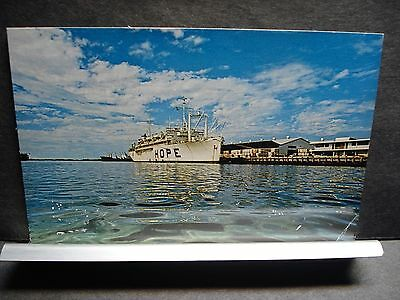 Hospital Ship SS HOPE Naval Cover Unused Post Card