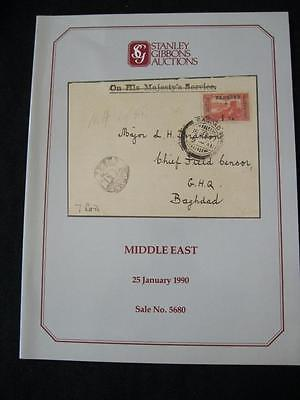Stanley Gibbons Auction Catalogue 1990 Middle East