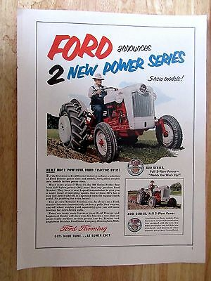 1955 FORD 600 Series TRACTOR  Print Ad 9 x 13  inchs approx.