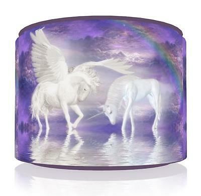 "Magical Unicorn Ceiling Light Lamp  Shade 11"",  2 Designs Girls Room Free  P & P"
