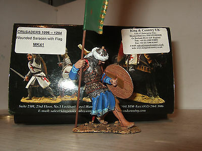 King and Country MK41 Wounded Saracen with Flag Stumbles Back,  in 1:30 Scale