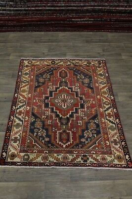 Unique Pattern S Antique Handmade Bakhtiari Persian Rug Oriental Area Carpet 5X6