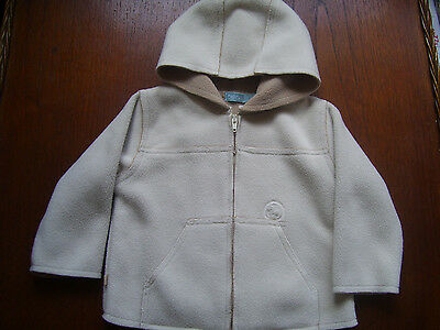 Baby Boys ' Obaibi ' Hooded Fleece Coat Age 6 Months Excellent Condition