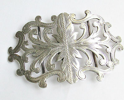 Victorian antique solid silver sterling nurses buckle dated 1899-1900