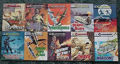 10 X Commando War Stories In Pictures,war Comics,bulk Lot Collection,3