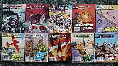 10 X Commando War Stories In Pictures,war Comics,bulk Lot Collection,1