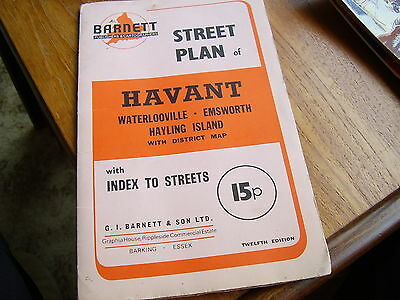 Old  Street Plan Of Havant, Waterlooville Emsworth & Hayling Island ~ Map