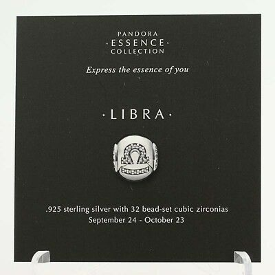 *BEAD NOT INCLUDED* New Pandora Essence Collection Libra Zodiac 13 Stock Cards