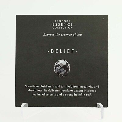 *BEAD NOT INCLUDED* New Pandora Essence Collection Belief 17 Photo Stock Cards