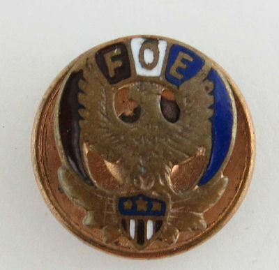 Fraternal Order of Eagles Lapel Pin - FOE Enameled Collectible Member Vintage