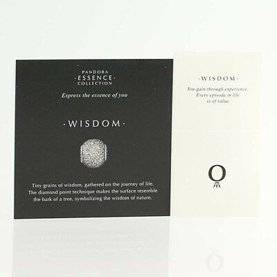 *BEAD NOT INCLUDED* New Pandora Essence Collection Wisdom 40 Box Wraps 31 Cards