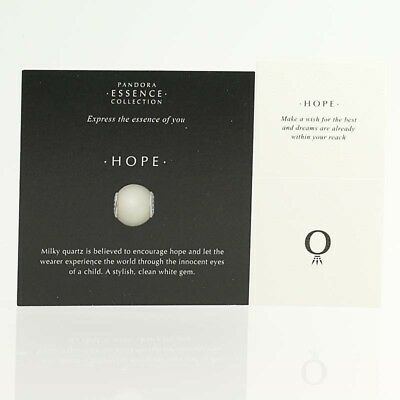*BEAD NOT INCLUDED* New Pandora Essence Collection Hope 33 Cards 40 Box Sleeves