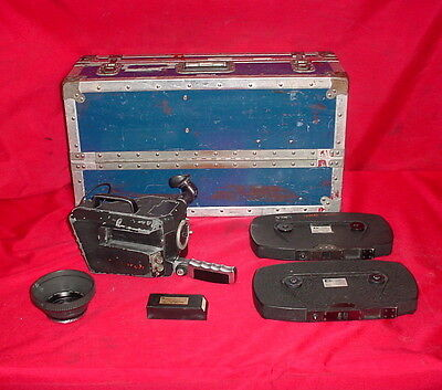 Cinema Products CP-16RP 16mm Sound Camera Crystasound w/ PLC-4A/4 Magazines&Case
