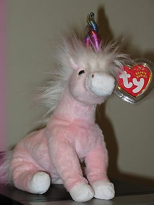 Ty Beanie Baby ~ CHARMER the Unicorn  ~ MINT with MINT TAGS ~ RETIRED