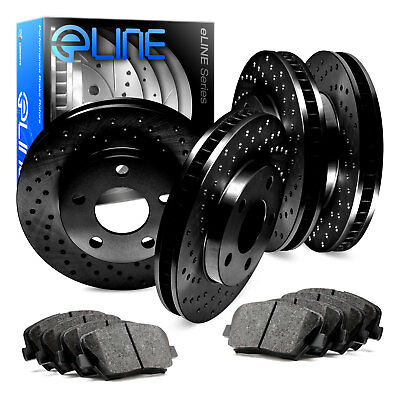 A1136 FIT 2013 2014 2015 Honda Civic EX-L DRILLED ROTORS /& CERAMIC PADS F+R