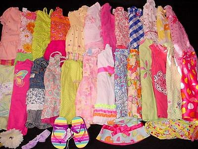 42pcs USED BABY GIRL 12 18 MONTHS SPRING SUMMER CLOTHES LOT FreeShipping
